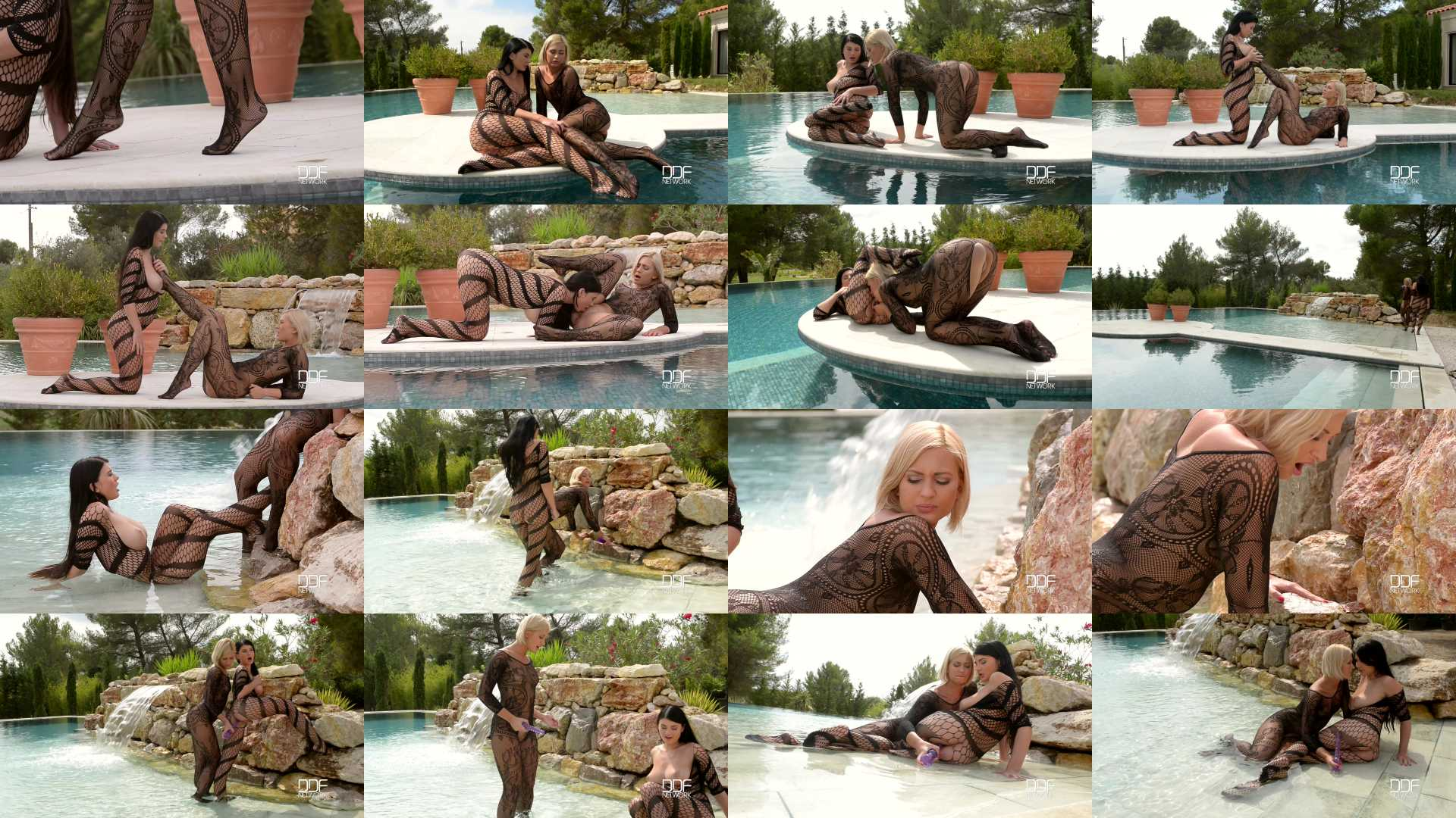 Lucy Li, Tracy Lindsay aka Tracy Delicious in 2 Mermaids - 1 Island: Hot Blonde And Brunette Enjoy Sexy Foot Play